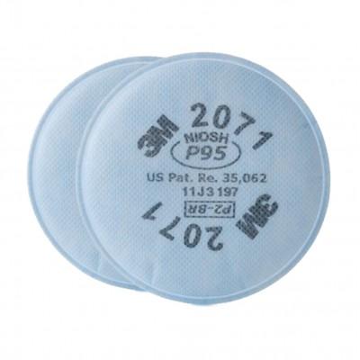 3M 2071 P95 防塵防粉顆粒物過濾棉(白色) (1對/包)