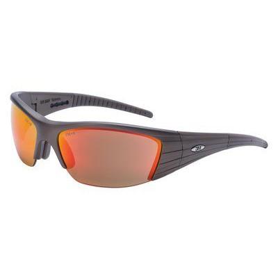 3M™ 11635 Fuel X2 防護眼鏡防UV反光(紅鏡片暗銅框)