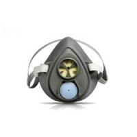 3M™ 3200 經濟型塑膠防顆粒半面罩呼吸器(深灰)
