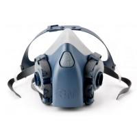 3M™ 7500 系列 - 半面式矽膠防護面罩 (藍灰色)     [ 7501 (S) ]