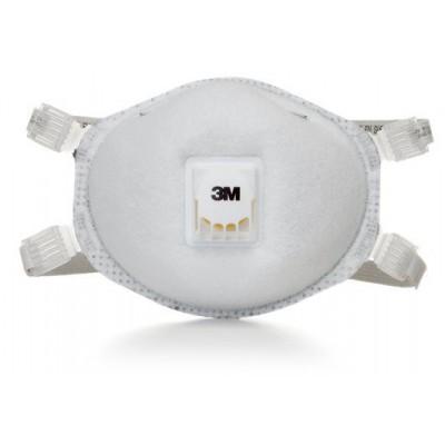 3M 8214 N95活門粉塵燒焊含活性碳口罩(白色)