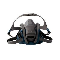 3M™  6500QL 快扣系列 - 耐用舒適型矽膠防毒面罩 (藍灰) [ 6501QL (S) ]