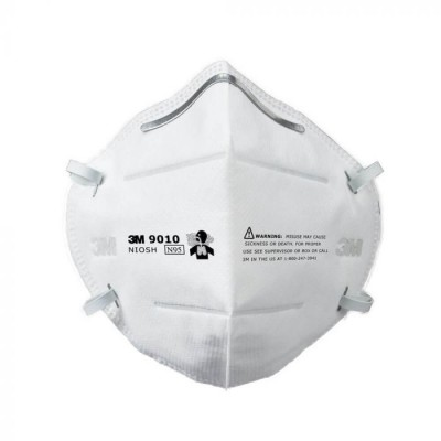 3M™ 9010 N95 防菌口罩(白) 摺疊式 (50片/盒)