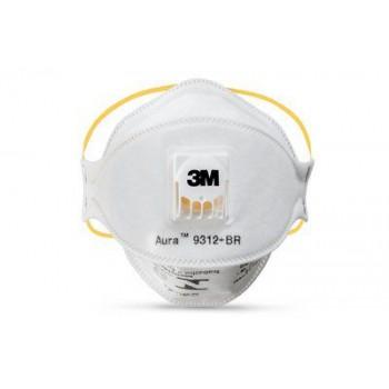 3M™ 9312A+ FFP1 防菌口罩(白)(呼氣閥摺疊式)