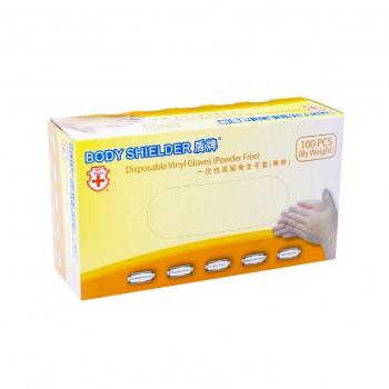盾牌 VINYL 一次性高級無粉衛生手套 (100片/盒)(CE,FDA,NSF認証)