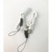 盾牌 摺疊便攜式多功能充電掛頸風扇(白色)